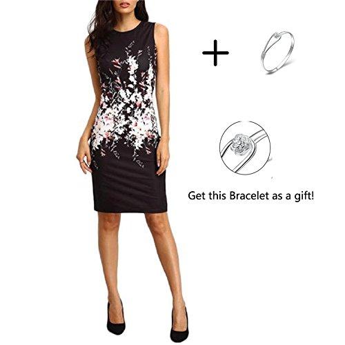 Women Party Dress, Misaky Sleeveless Bodycon Ladies Evening Dress (M, Black)