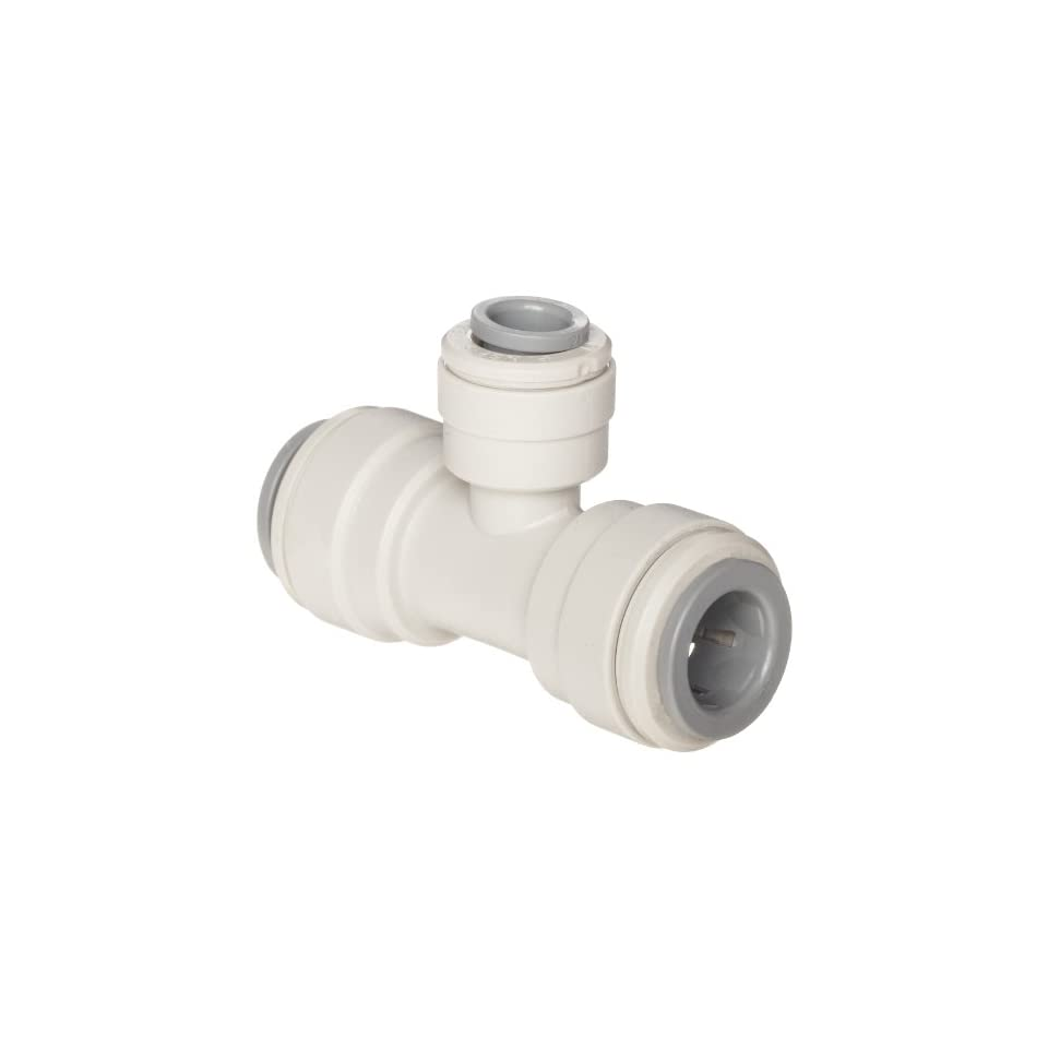 John Guest Acetal Copolymer Tube Fitting, Reducing Branch Tee, 3/8 x 1/4 x 3/8 Tube OD (Pack of 10)