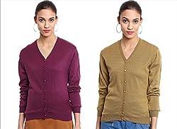 TAB91 Women's Winter Wear Cardigans - Pack of 2