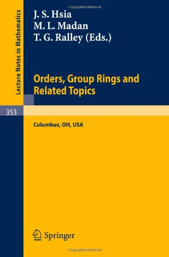 Proceedings of the Conference on Orders, Group Rings and Related Topics (Lecture Notes in Mathematics)