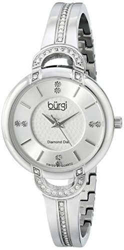 Burgi Women'S Bur105Ss Analog Display Swiss Quartz Silver Watch front-782318