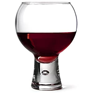 Alternato wine glasses 19oz 540ml pack of 6 red wine glasses short stem glasses bubble - Short stemmed wine glasses uk ...