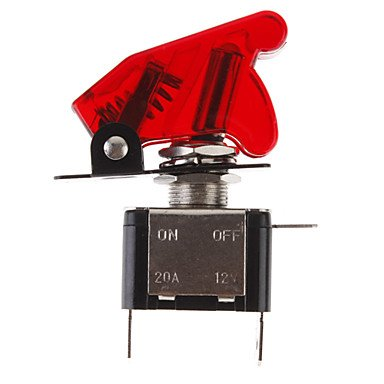 Mch-Diy Red Led Illuminated Toggle On/Off Switch For Car (12V 20A)