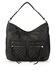 Limited Edition Quilted & Studded Hobo Bag