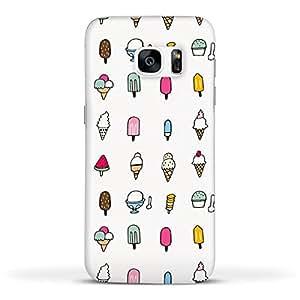 FUNKYLICIOUS Galaxy S7 Back Cover Ice cream Art Design (Multicolour)