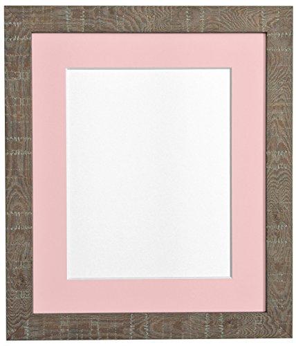 20 x 16 cm mittel Körnung Tiefer Bilderrahmen mit Halterung Bilderrahmen Pink Größe A3 braun