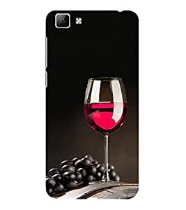 ifasho Wine at Dine Back Case Cover for VIVO Y35