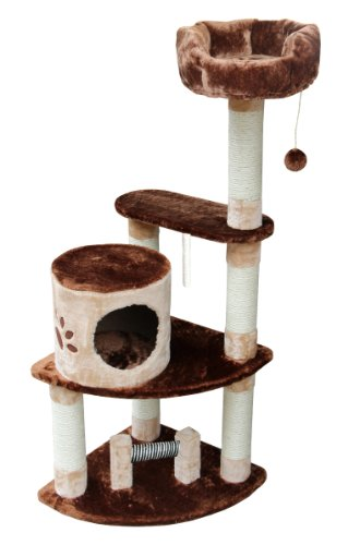 Kitty Mansions Florence Cat Tree, Brown/Beige