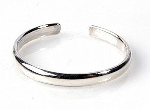 Sterling Silver Toe Ring Plain 925 Solid Band,