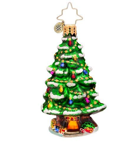 Christopher Radko Glass Home Spruce Home Gem Christmas Tree Ornament #1017204