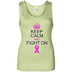 Keep Calm And Fight On Support Women's Tank Top