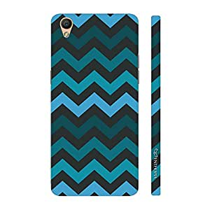 Enthopia Designer Hardshell Case CHEVRON BLUES Back Cover for Oppo R9