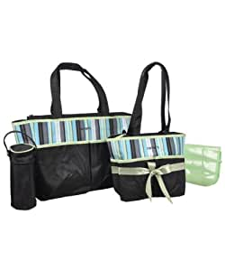 carter 39 s diaper bag set green diaper tote. Black Bedroom Furniture Sets. Home Design Ideas