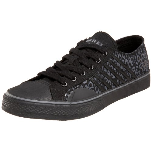 Draven Shoes  Men's Pp Leopard Sneaker,Black,8.5 M