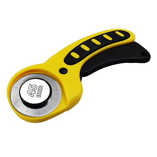 Genetek Rotary Cutter 45mm Deluxe Ergonomic Softgrip and Safety Handle