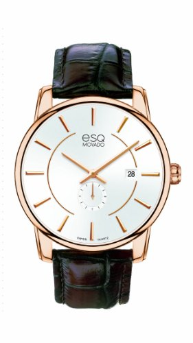 ESQ Movado Men's 07301414 esq CAPITAL tm Round Gold-Plated Watch