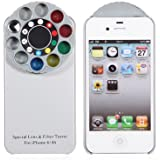 Fashionable Back Cover with Kaleidoscope Special Lens and Filter Turret for Iphone 4/4s - Gray
