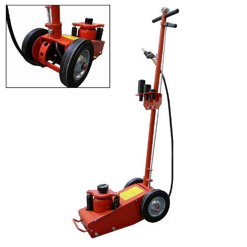 22 Ton Hydraulic Air Floor Axle Bottle Jack w/ Wheels Lift Bus Truck Commercial W/Wheels Heavy Duty Truck Repair