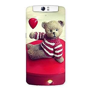 Impressive Red Heart Teddy Back Case Cover for Oppo N1
