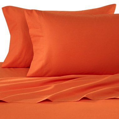 1500 Thread Count Egyptian Quality Bed Sheet Set-Full Size-Orange, Brick, Rust-Deep Pocket-4Pc front-153852