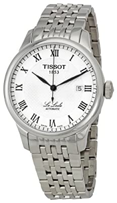 Tissot Men's T41148333 Le Locle Silver Textured Dial Watch by Tissot
