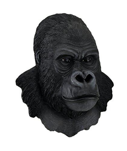 3-D Silverback Gorilla Head Wall Sculpture 16 in.
