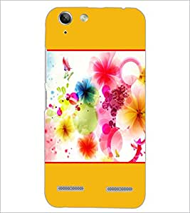 PrintDhaba Colored Flowers D-1429 Back Case Cover for LENOVO VIBE K5 PLUS (Multi-Coloured)