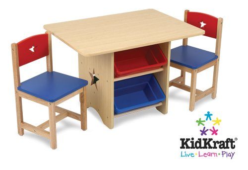 Kidkraft Star Table  &  2 Chair Set 26912 Furniture (Multi-colour)