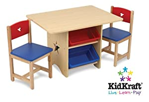Amazoncom Kidkraft Star Table and Chair Set Kitchen
