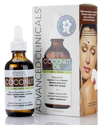 ''Advanced Clinicals Coconut OIL for Skin. Repair Coconut OIL for Face, BODY and Hair. For Chronic Dr