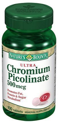 Nature'S Bounty Ultra Chromium Picolinat 500Mcg Tbs 100Ct 100 Ea