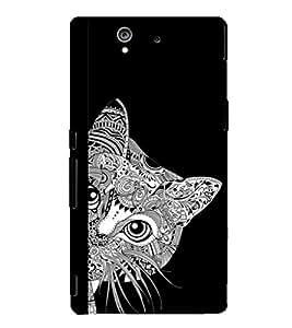 Fuson Premium Printed Hard Plastic Back Case Cover for Sony Xperia Z