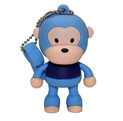 4GB Baby Monkey USB 2.0 High Speed Silicon Flash Memory Drive Disk Stick Pen Support Windows and MacOS Great Gift (4GB BLUE) by EASYWORLD
