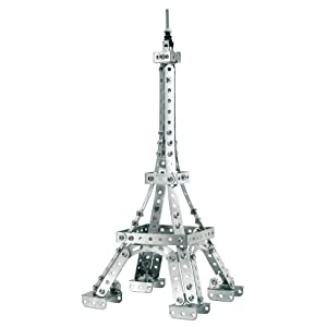 Eiffel Tower Construction Pictures on Amazon Com  Erector Small Eiffel Tower Construction Set  Toys   Games