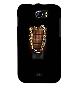 PrintDhaba Chocholate D-5567 Back Case Cover for MICROMAX A110 CANVAS 2 (Multi-Coloured)