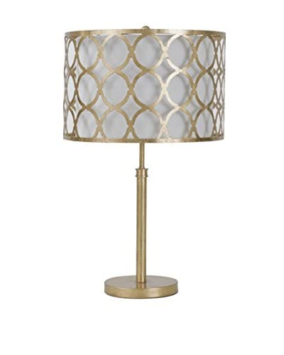 Home Philosophy Metal Pattern Shaded 1-Light Lamp, Gold