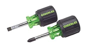 Greenlee 0153-04C Stubby Screwdriver Set, 2 Piece