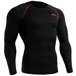 emFraa Homme Femme Sport Compression thermal Base layer Shirt Long sleeve XS