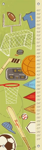 Oopsy Daisy All Sport by Jon Cannell Growth Charts, 12 by 42-Inch