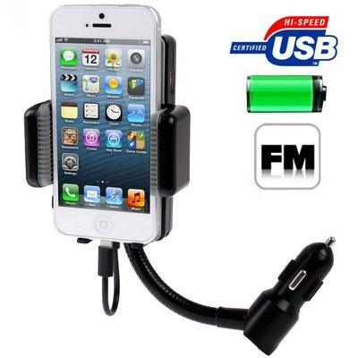 3in1 Universal All Channel Fm Transmitter Car Charger Hands Free Kit for Iphone 5