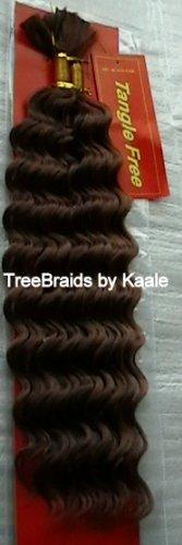 New Deep Bulk Human Hair for Braiding with Maintenance Instructions (Brown #4)