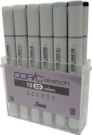 Copic Marker SB12 12-Piece Sketch Basic Set Pack of 5 (Color: 5 Pack)