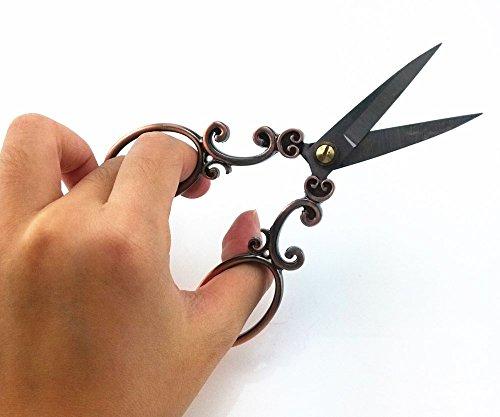 yueton Vintage European Style Needlework Embroidery Scissors (Copper) 4
