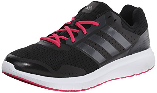 adidas Performance Women's Duramo 7 W Women's Running Shoe, Black/Silver/Pink, 8 M US (Adidas Adiprene Shoes compare prices)
