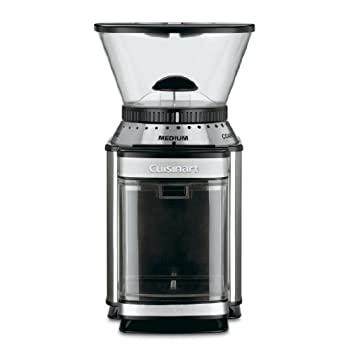 A stylish grinder for the serious coffee buff, this Cuisinart Supreme Grind automatic burr mill provides plenty of options and good results in an attractive and tidy structure. This makes it a great appliance for houses where coffee is a steady diet...