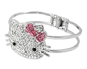 Wrapables Hello Kitty Crystal Bangle Bracelet