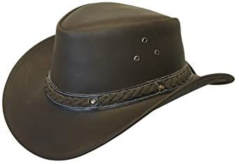 Cov-Ver Hats Crushable Leather Australian Hat at Amazon Women's