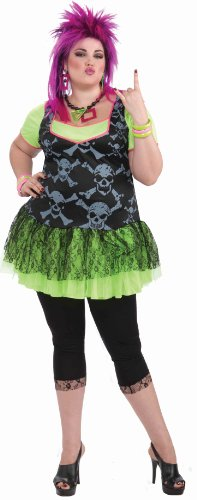 Forum Novelties Women's 80's Punk Lady Plus Size