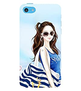 Vizagbeats Stylish Girl Back Case Cover for Apple iPhone 6 Plus