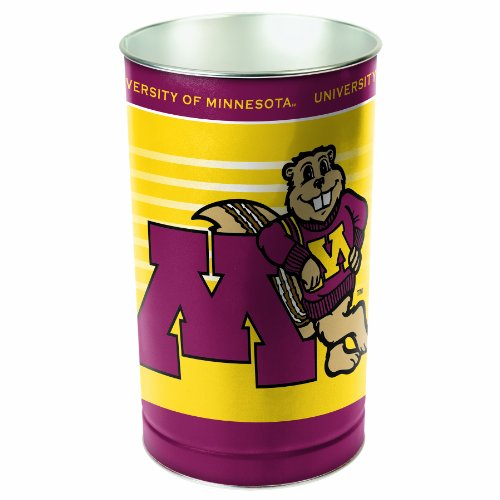 NCAA Minnesota Golden Gophers Wastebasket (Bears Garbage Can compare prices)